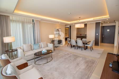 3 Bedroom Apartment for Rent in Downtown Dubai, Dubai - 3BR + Maids | Burj & Fountain View | Rent