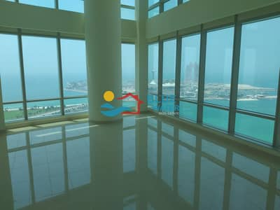 3 Bedroom Flat for Rent in Corniche Area, Abu Dhabi - Deal of the month! Breathtaking sea view 3 Br duplex with all facilities
