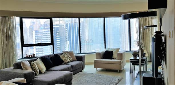 فلیٹ 3 غرف نوم للايجار في دبي مارينا، دبي - Furnished/Unfurnished | Panoramic View of Marina | 3Br