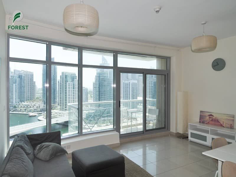 Fully Furnished   1BR   Marina View   High Floor