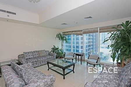 شقة 2 غرفة نوم للايجار في دبي مارينا، دبي - Spacious Fully Furnished 2 Beds Plus Maid