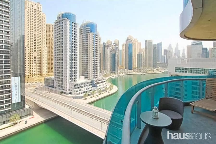 Large 2 Bedroom | Furnished | Full Marina View