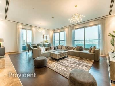 بنتهاوس 4 غرف نوم للايجار في نخلة جميرا، دبي - Exclusive | Fully furnished with Alluring Sea View