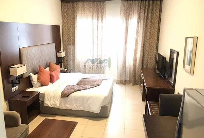 FIVE STAR FURNISHED STUDIO CLOSE TO SHARAF DG METRO WITH POOL GYM IN 40K