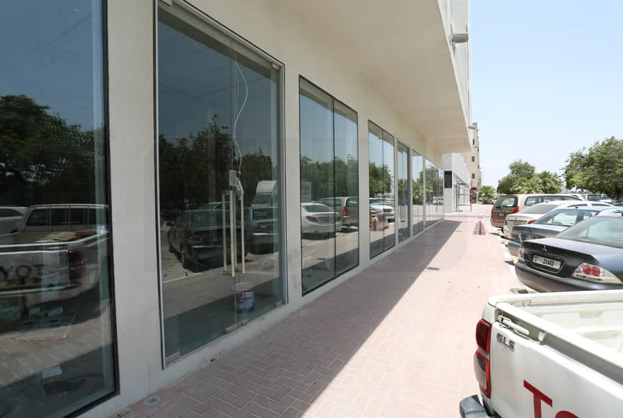 11 60 Dhs PSF | Road facing Shop | Good Exposure