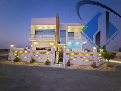 5 Bedroom Villa for Sale in Al Helio, Ajman - For sale, modern villa in Al-Hilo, new first inhabitant Central air conditioning at an excellent price