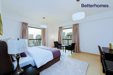 3 Bedroom Flat for Rent in Jumeirah Beach Residence (JBR), Dubai - Sea View | Furnished | With Balcony |With Parking Space