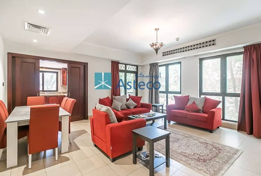 Beautifully Bright Furnished 2BR | Direct Pool