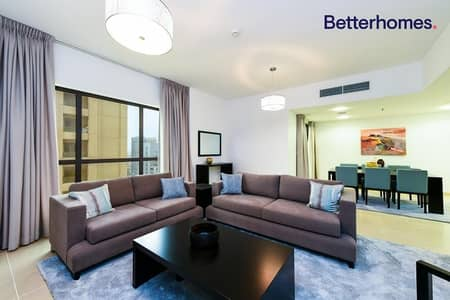3 Bedroom Apartment for Rent in Jumeirah Beach Residence (JBR), Dubai - 4 Payments | Furnished |Partial Sea View