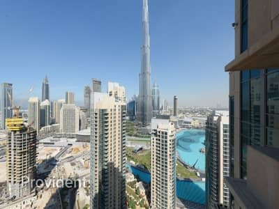 شقة 1 غرفة نوم للايجار في الخليج التجاري، دبي - Burj Khalifa Pool View | Unfurnished Apt