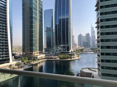 2 Bedroom Apartment for Rent in Jumeirah Lake Towers (JLT), Dubai - 2 BR+Maids w Full Lake View | Family Building