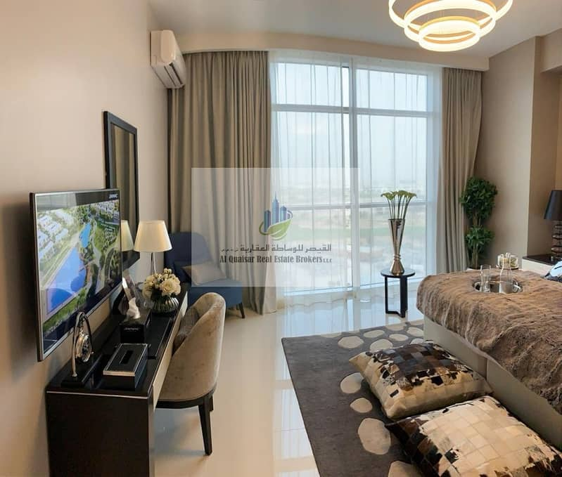 Furnished in a fully equipped community.