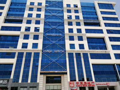 Office for Rent in International City, Dubai - Fitted Office for Rent in Indigo Optima
