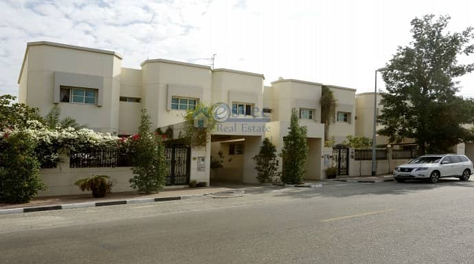 Nice 3Br plus Maid villas with Garden at Reasonable rent for 13 Months