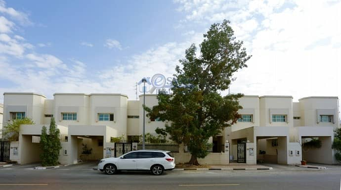 2 Nice 3Br plus Maid villas with Garden at Reasonable rent for 13 Months