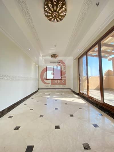 بنتهاوس 4 غرف نوم للايجار في بر دبي، دبي - 4Bhk Luxury Pent House Front Of Metro With 2 Big Kitchen+Big Terrace In Al Jaddaf