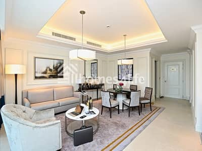2 Bedroom Apartment for Rent in Downtown Dubai, Dubai - Serviced 2BR on High Floor