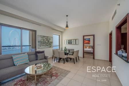 2 Bedroom Flat for Sale in Jumeirah Beach Residence (JBR), Dubai - Mid Floor | 2 Bed VOT | Sea View