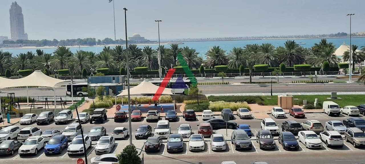2 No Deposit!! Sea View 1 Bedroom apartment with parking for rent in Corniche Road