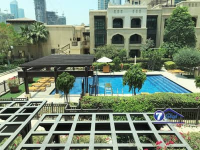 1 Bedroom Flat for Rent in Old Town, Dubai - Pool View | 1 Bedroom | Tajer Residences