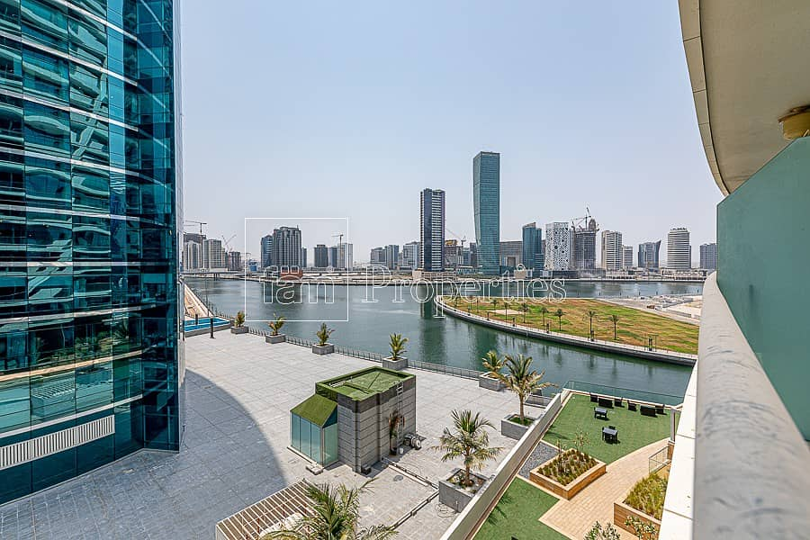 Vacant NOW | Full Water Canal View | Glass Balcony