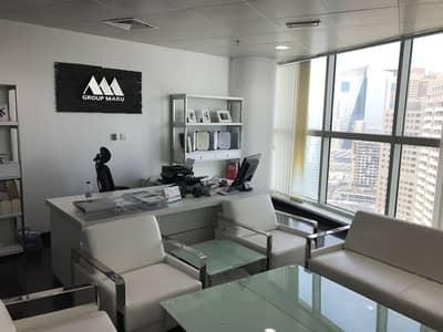 مکتب  للايجار في برشا هايتس (تيكوم)، دبي - Furnished office in Damac heights|  higher floor |