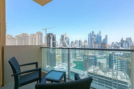 فلیٹ 1 غرفة نوم للايجار في دبي مارينا، دبي - Exclusive Fully Furnished High Floor Full Marina View