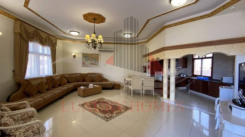 2 Fully furnished ground floor villa with utilities