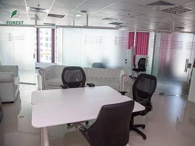 مکتب  للايجار في الخليج التجاري، دبي - Spacious  Fitted Office |Glass Partition |Vacant