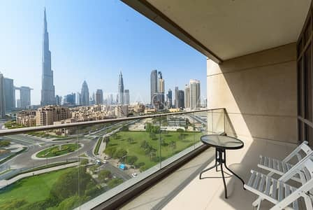 2 Bedroom Apartment for Rent in Downtown Dubai, Dubai - Fully Furnished | Immaculate | Burj Khalifa Views