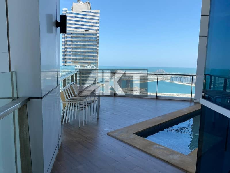 4 BED +MAID/ FULL PANORAMIC  SEA VIEW/ UPGRADED PENTHOUSE