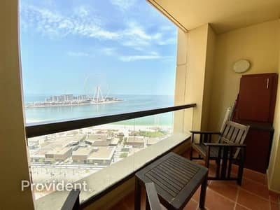 2 Bedroom Apartment for Rent in Jumeirah Beach Residence (JBR), Dubai - Full Sea and Dubai Eye Views | Fully Furnished
