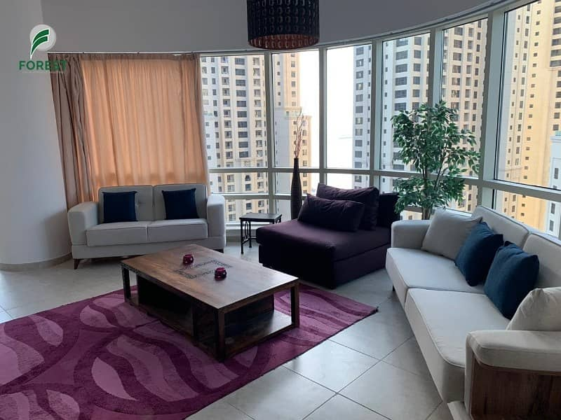 2 High Floor | Fully Furnished | JBR and Marina View