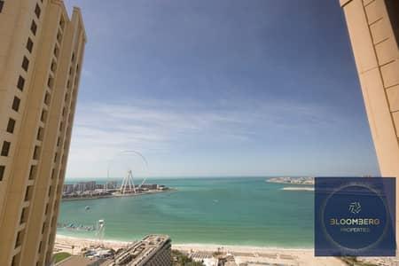 فلیٹ 2 غرفة نوم للبيع في جميرا بيتش ريزيدنس، دبي - Stunning huge apt with sea view| Vacant