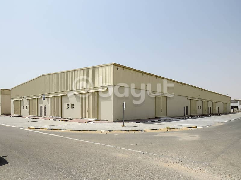 COMMERCIAL / INDUSTRIAL / STORAGE WAREHOUSE IN SAJJA WITH 3 MONTHS FREE PERIOD