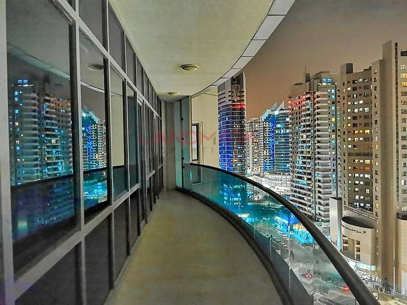 Amazing Tecom view with Huge Balcony | Few steps from Metro | CHILLER FREE | 2BR
