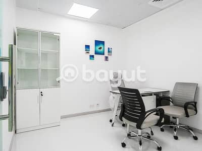 مکتب  للايجار في بر دبي، دبي - Great Deal!! Stunning Flexi Desk Office | Fully Furnished | Near to Metro |