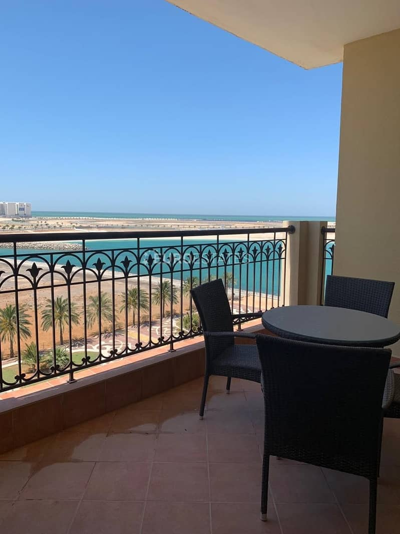 Open Sea View | 1BR Hotel Apartment Al Marjan Resort