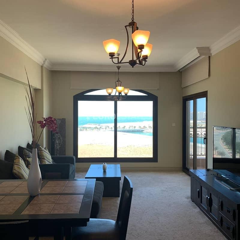 2 Open Sea View | 1BR Hotel Apartment Al Marjan Resort