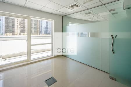 Office for Rent in Jumeirah Lake Towers (JLT), Dubai - Fitted Office with Partitions | Balcony