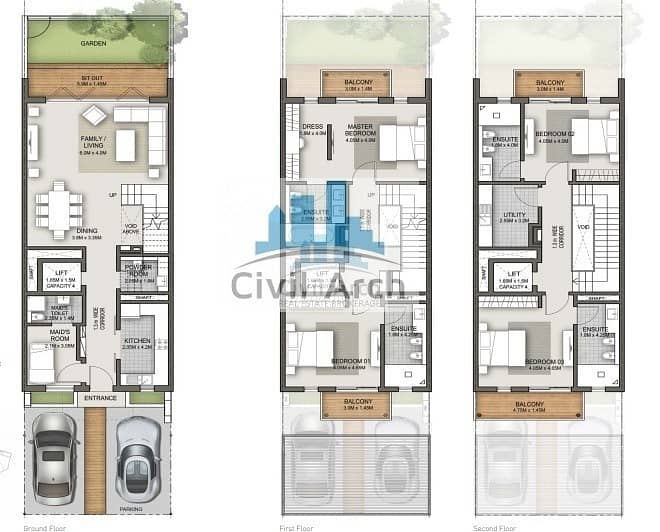 2 Triplex Townhouse+Pvt Lift+pay 25% Move-in