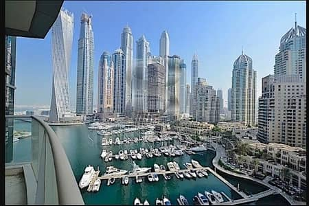 2 Bedroom Apartment for Rent in Dubai Marina, Dubai - full Marina view High floor 03 type | 2BR + Maid + Study