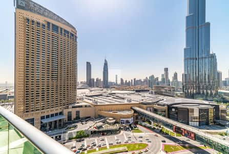 2 Bedroom Flat for Rent in Downtown Dubai, Dubai - Large Layout | Burj View | All Bills Included