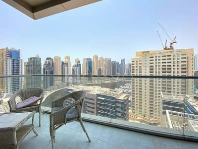 3 Bedroom Apartment for Rent in Dubai Marina, Dubai - Full Marina View | Balcony | High Floor