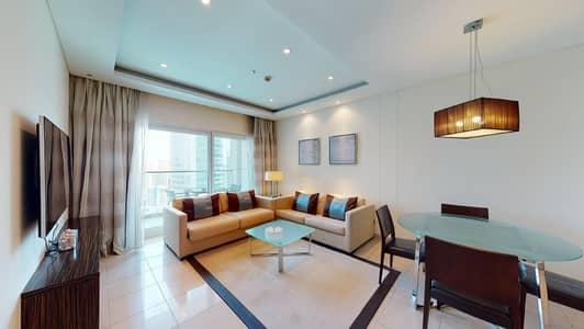 شقة 2 غرفة نوم للايجار في أبراج بحيرات الجميرا، دبي - Flexible contract | City and lake views | Move-in ready