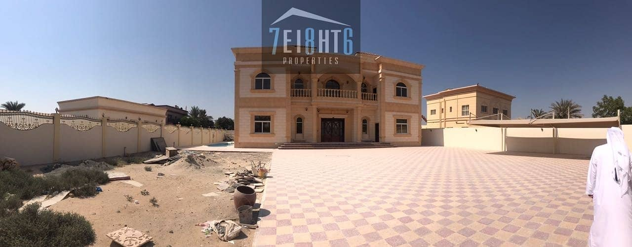 Exceptional luxury: 5 b/r independent villa + servant quarters + 2 kitchens + s/pool + stunning landscaped garden