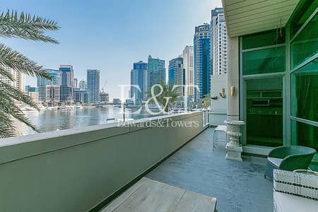 فیلا 3 غرف نوم للايجار في دبي مارينا، دبي - Rare Duplex Villa Full Marina View with Terrace