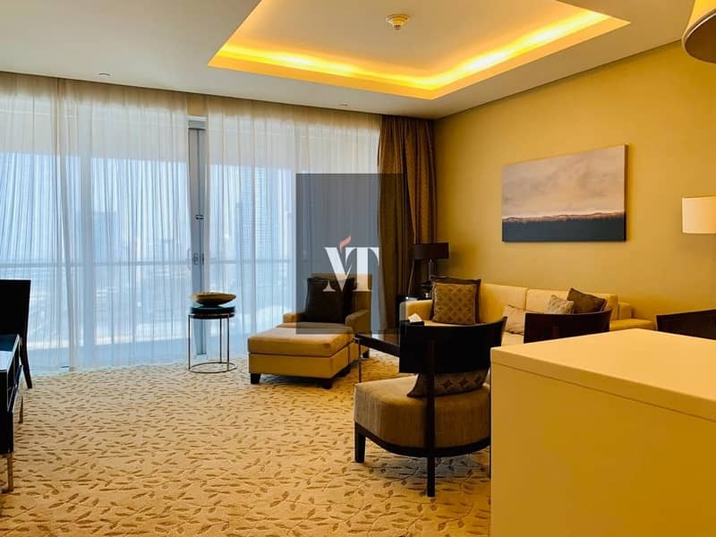 2 Furnished | 1 BR in Address Dubai Mall For Sale | Partial Fountain View