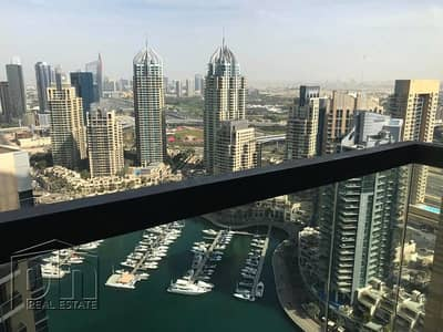 2 Bedroom Flat for Rent in Dubai Marina, Dubai - Full Marina View | High Floor | Large Layout