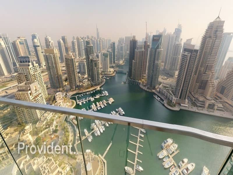 Furnished 3BR+Maids Corner Unit with Full Marina View